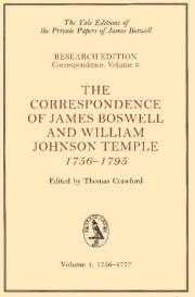 The Correspondence of James Boswell and William Johnson Temple, 1756